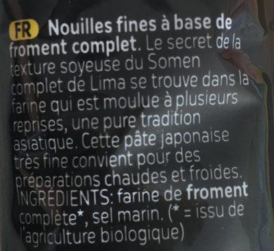 Somen - Ingrédients