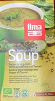 Soupe de légumes verts aux lentilles et Tamari - Produit - fr
