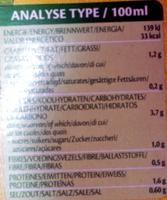 Soupe de légumes verts aux lentilles et Tamari - Informations nutritionnelles - fr