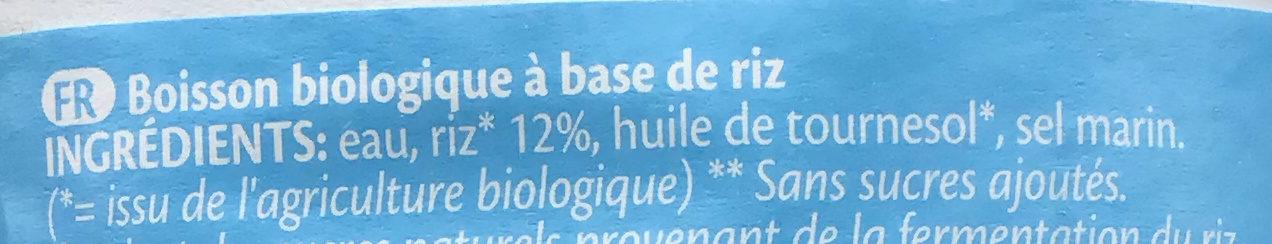 Rice drink natural - Ingrédients - fr