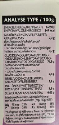 4X125G Riz Thai Mi-complet Precuit - Informations nutritionnelles - fr