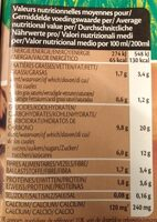 Boisson au riz. Chocolat - Voedingswaarden