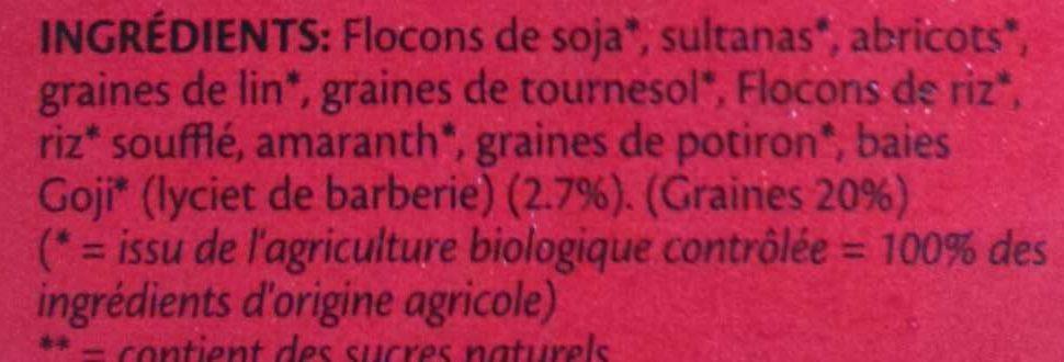 Muesli Goji & graines - Ingredienti - fr