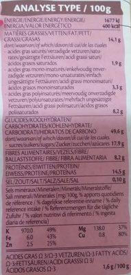 Muesli Goji & graines - Valori nutrizionali - fr