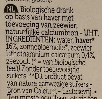 Avoine calcium - Ingrediënten