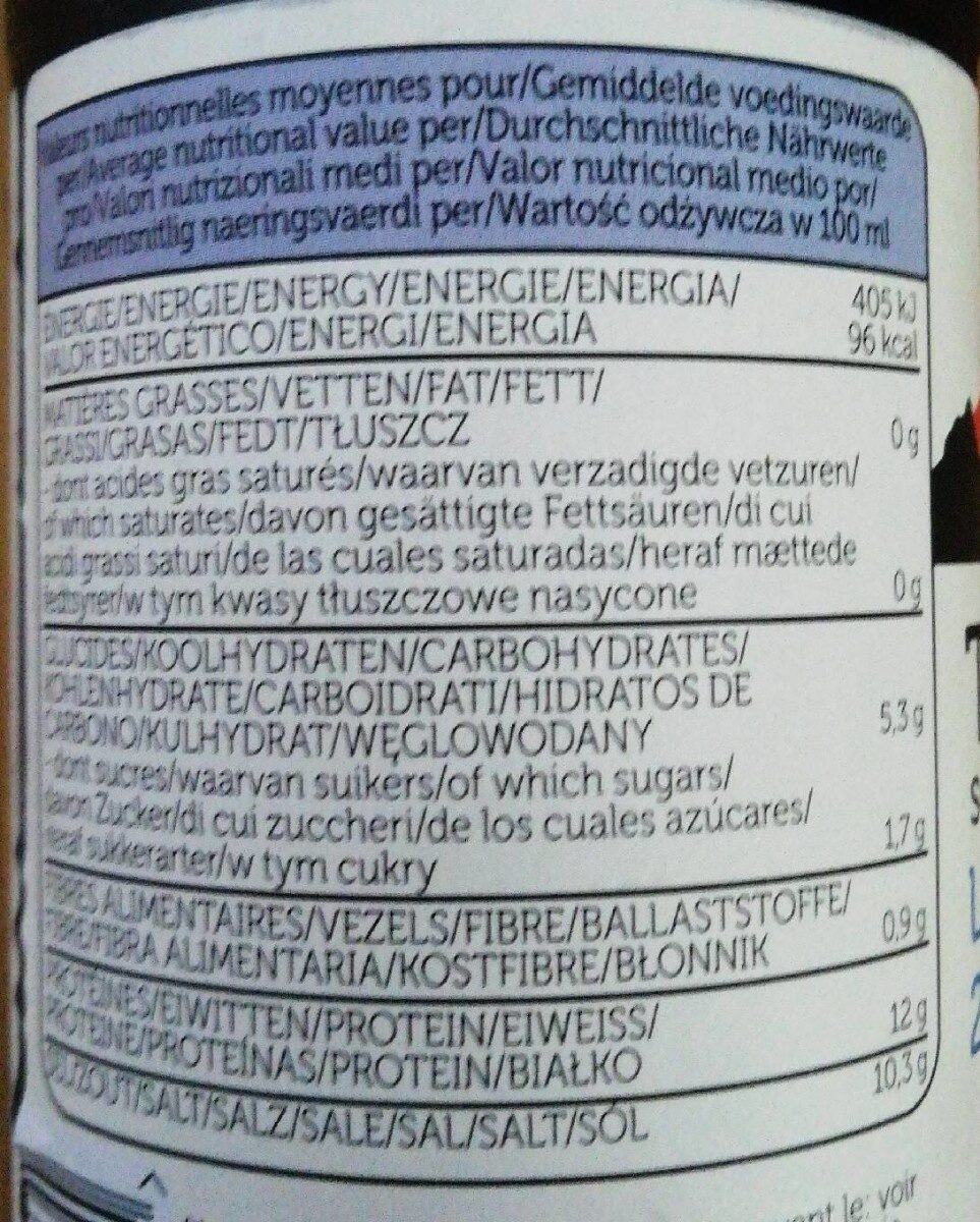 Tamari less salt -25% - Informations nutritionnelles - fr