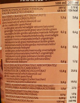 Oat avoine drink choco calcium - Nutrition facts - fr