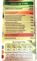 Edamamé Beans Nature - Informations nutritionnelles - fr