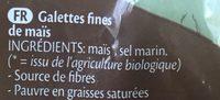 Galettes fines de maïs - Ingrédients - fr