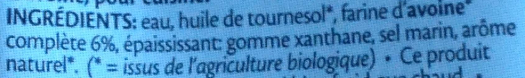 Cuisine Avoine - Ingredients - fr