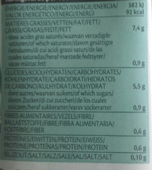 Cuisine Avoine - Voedingswaarden - fr