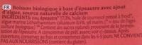 Spelt - Boisson à base d'épeautre bio - Ingredients - fr