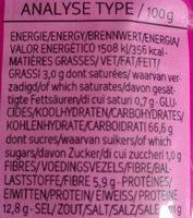 Soba 100% Sarrasin Complet - Nutrition facts