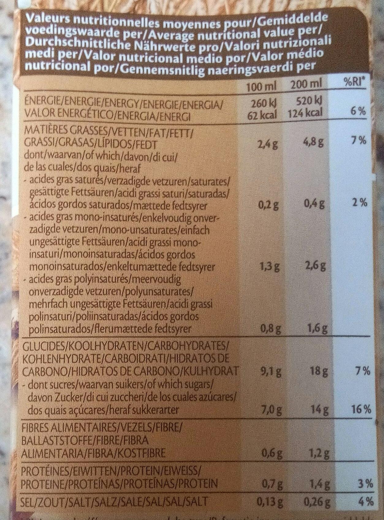 Spelt Épeautre Boisson biologique à base d'épeautre aux amandes - Nutrition facts - fr