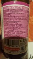 Sauce Teriyaki - Informations nutritionnelles