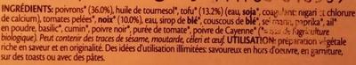 Délice de Poivron Noix et Epices - Ingredients