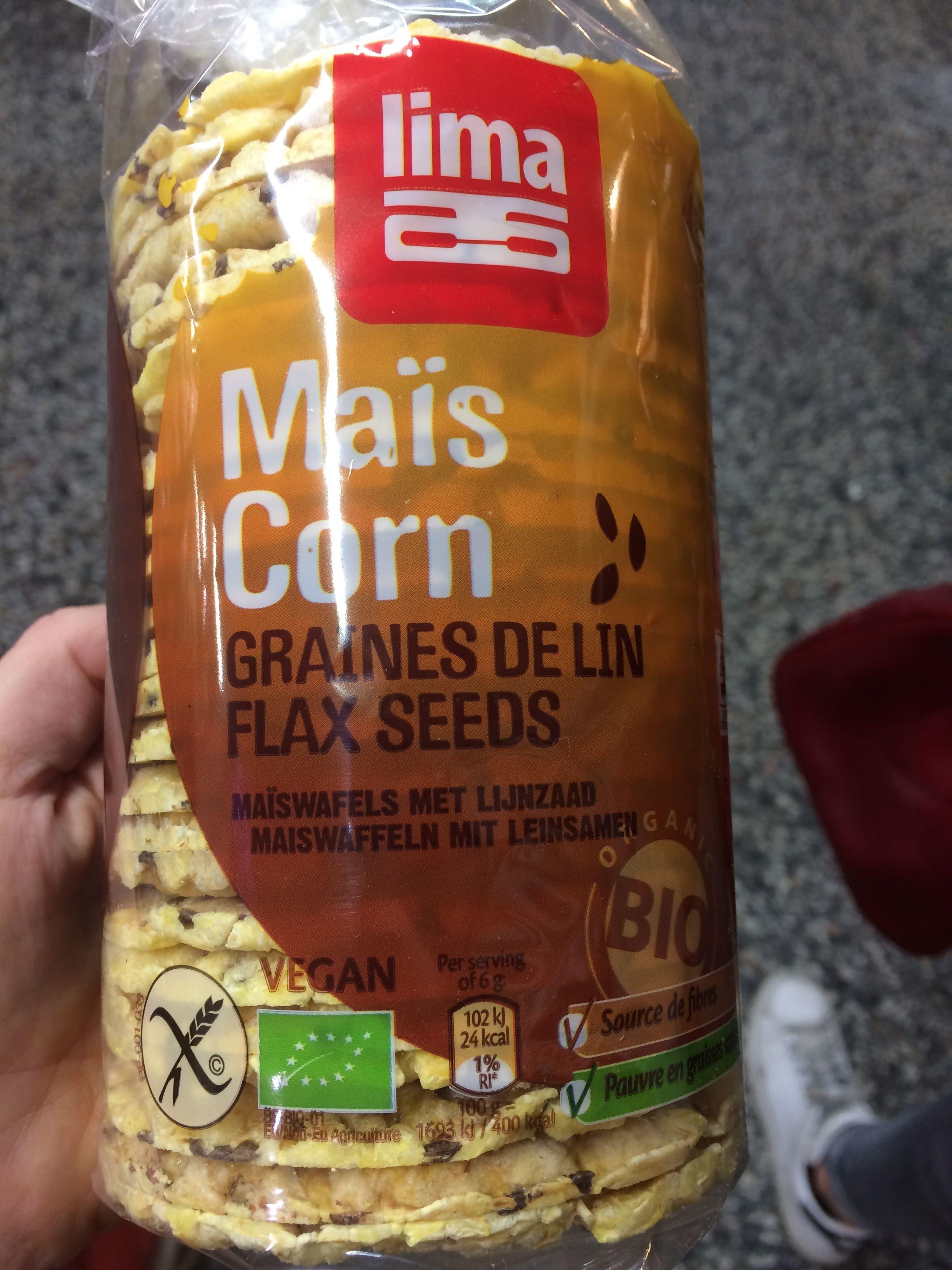 Galettes De Maïs Fines Aux Graines De Lin Biologique 150G - Product