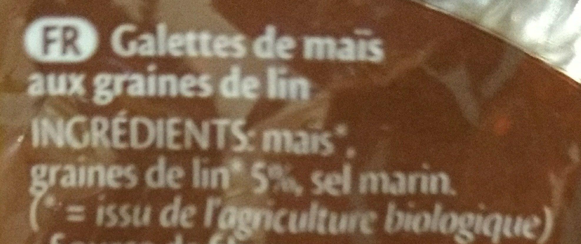 Galettes De Maïs Fines Aux Graines De Lin Biologique 150G - Ingrediënten