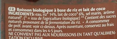 Drink coco - Ingredients - fr