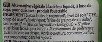 Crème De Soja Cuisine - Ingrediënten - fr