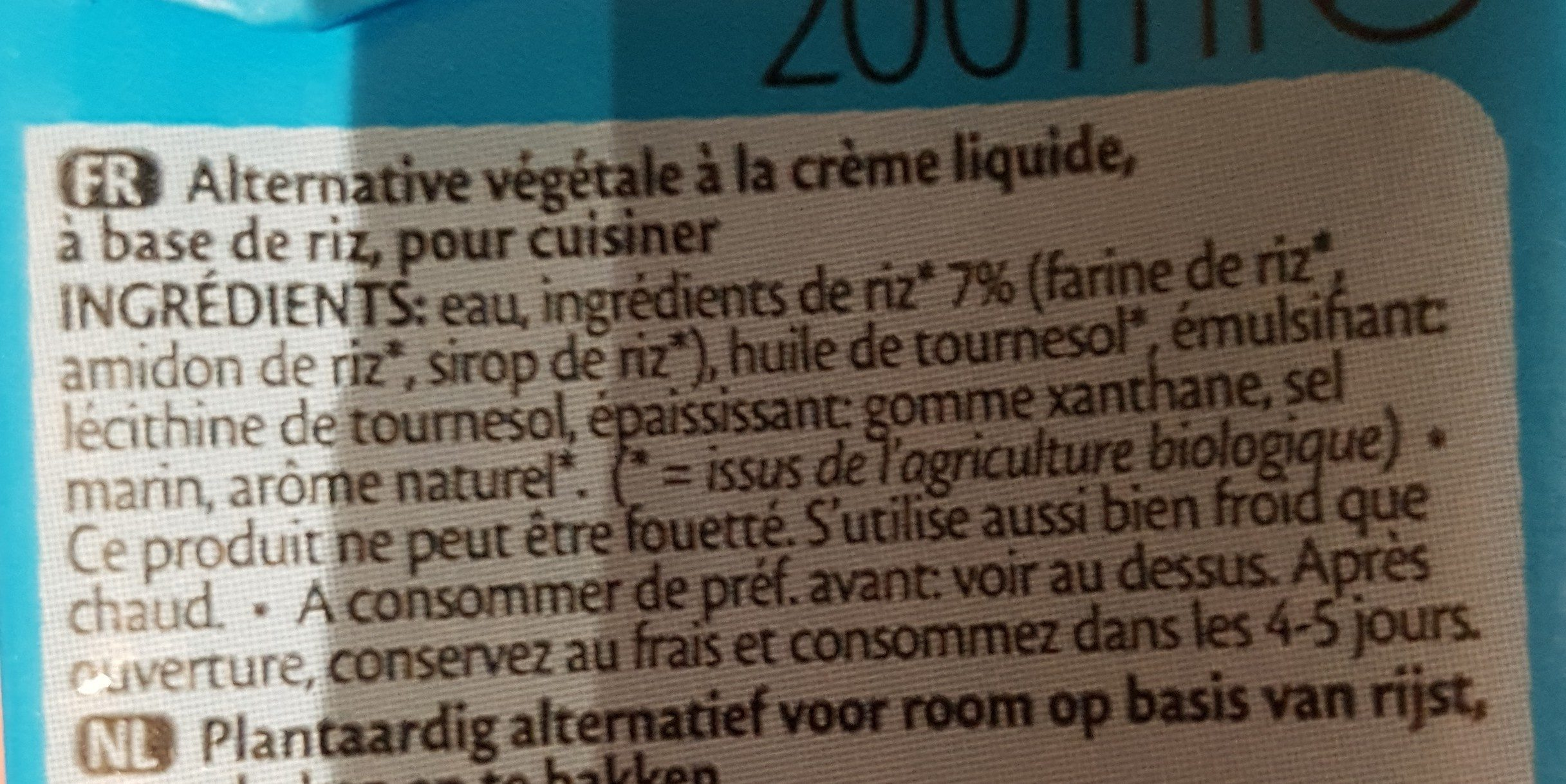 RICE RIZ CUISINE - Ingredients - fr