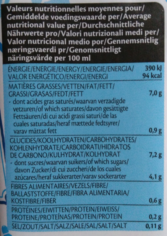 Cuisine - Riz - Nutrition facts - fr