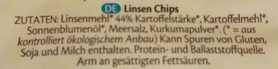 Lentil chips original - Zutaten - de