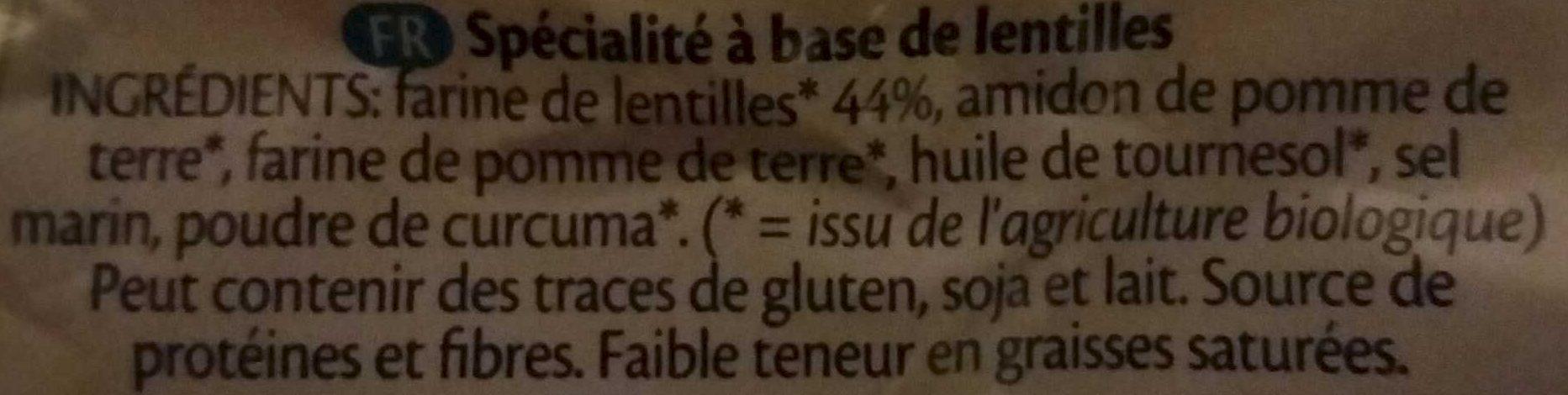 Lentil chips original - Ingredients - fr
