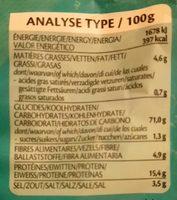 Lentil Chips Original - Nutrition facts