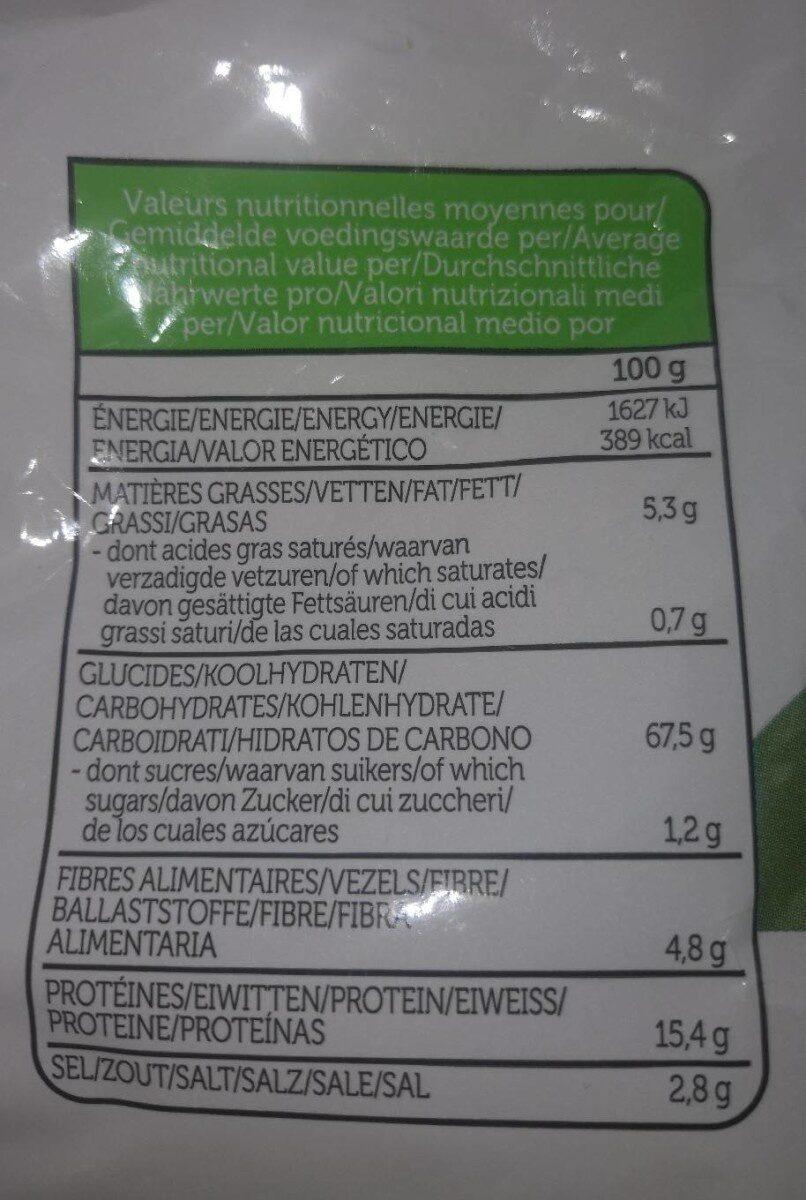 Lentil chips original - Nährwertangaben - fr