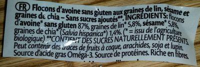 Porridge express OMEGA 3 - Ingrédients - fr