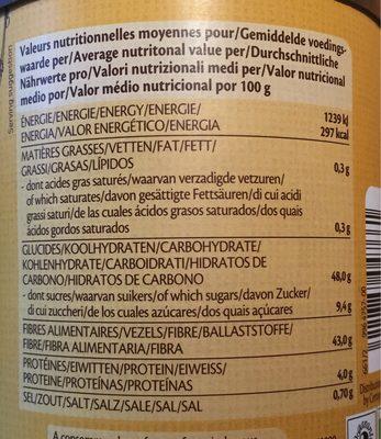 Chicorée soluble - Informations nutritionnelles - fr