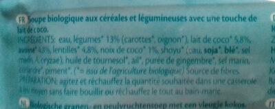Soupe & Cereales Thaï - Ingrédients - fr