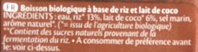 Drink coco - Ingrédients - fr