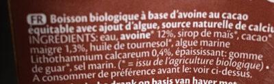 Oat avoine drink choco - Ingrediënten