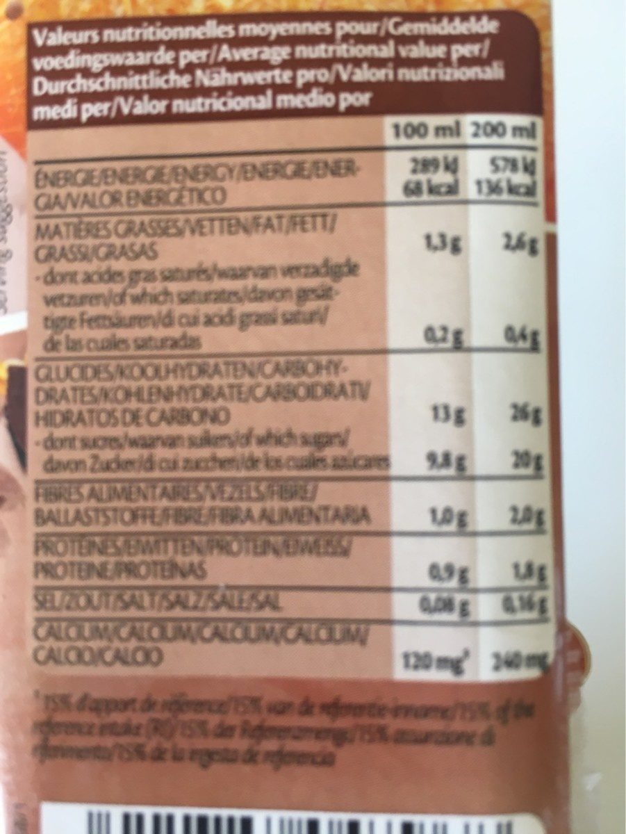 Oat avoine drink choco - Voedigswaarden