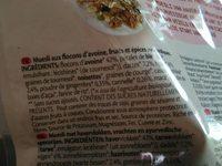 Muesli yoga - Ingrediënten - fr
