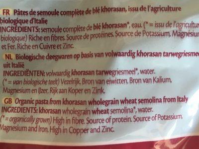 Fusillon khoradan - Ingredients - fr