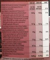 Black Rice drink Natural - Información nutricional