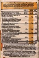 Protéines pois chiches - Nutrition facts - fr