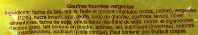 Rita Gaufres Vanille 3x150g - Ingrédients - fr