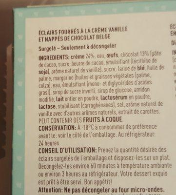 Éclairs Pâtissiers Nappés au Chocolat Belge - 1