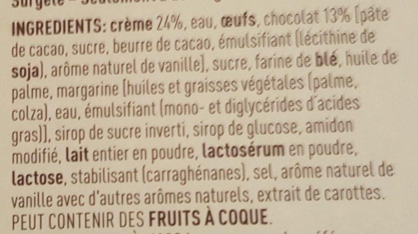 Éclairs Pâtissiers Nappés au Chocolat Belge - Ingrédients - fr