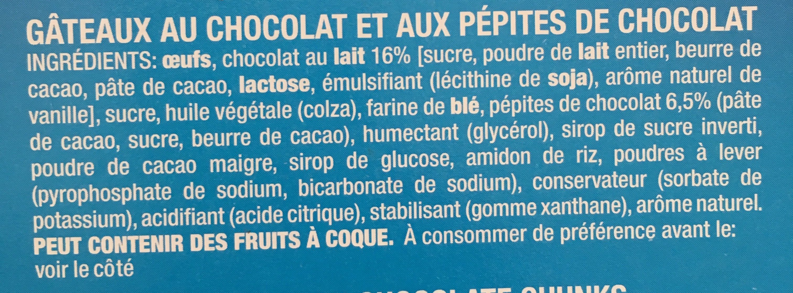 Brownies Double Choc - Ingrediënten - fr