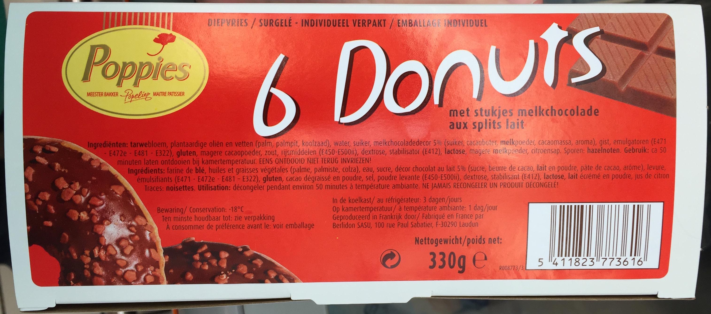 6 Donuts aux splits lait - Produit - fr