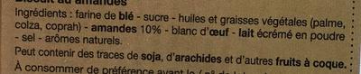 Amandines - Ingrédients - fr