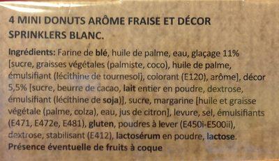 Micro donuts x4 confettis - Ingrédients - fr