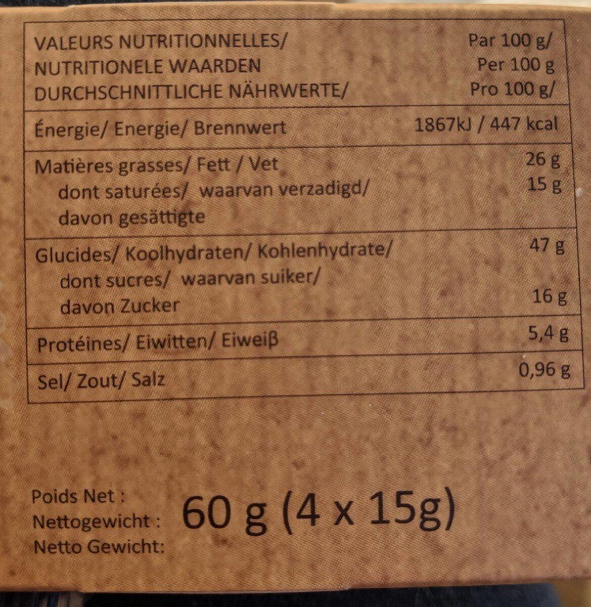 4 mini donut's - Informations nutritionnelles - fr