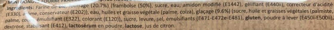 Donut Framboise - Ingrediënten - fr