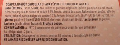 Donuts - Ingrédients - fr